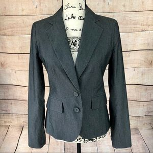 New York & Company Grey Striped Blazer Jacket 2